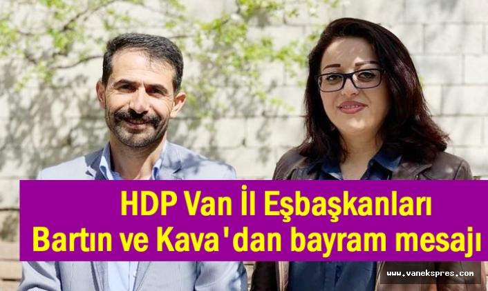HDP İl Eşbaşkanları Bartın ve Kava'dan bayram mesajı