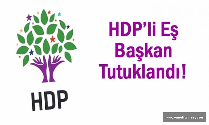 HDP'li Eş Başkan Tutuklandı!