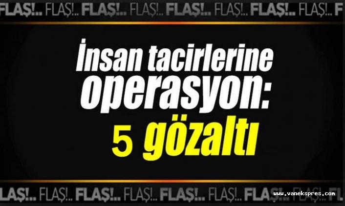 Van'da operasyon: 5 gözaltı