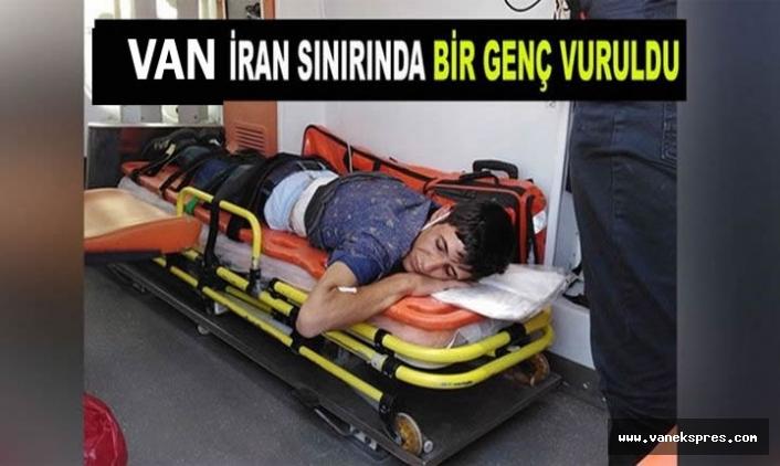 Van İran Sınırında Bir Genç Vuruldu
