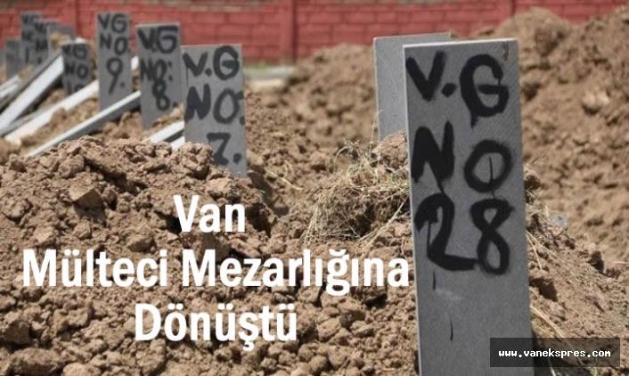 Van kimsesizler mezarlığı, göçmen mezarlığına döndü