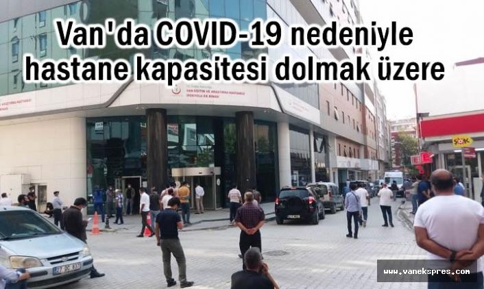SES: Van'da COVID-19 nedeniyle hastaneler dolmak üzere