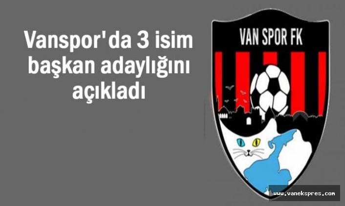 Vanspor'da 3 isim başkan adaylığını açıkladı