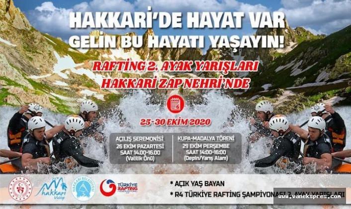 Hakkari, Türkiye Rafting Şampiyonasına hazırlanıyor