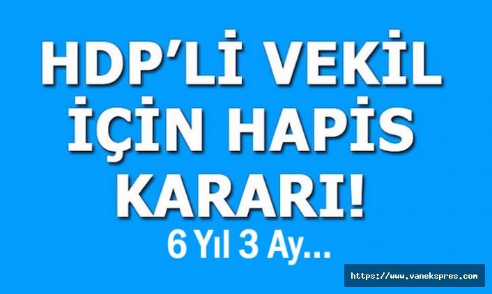 HDP'li Vekile Hapis Cezası Verildi