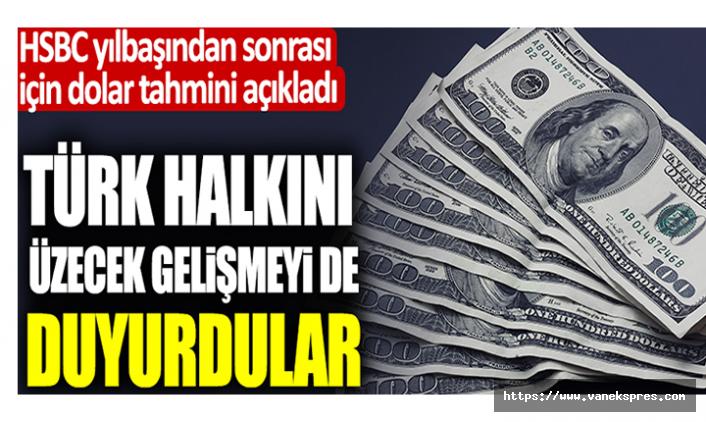 HSBC 2021 Dolar tahminini açıkladı: Türk halkını üzecek gelişme!
