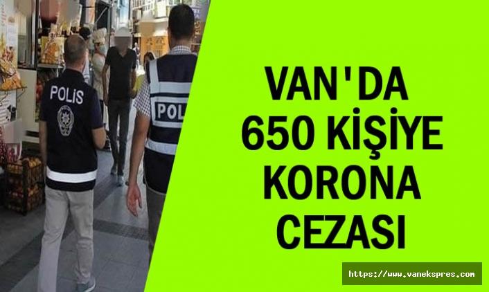 Van'da 2 ayda 650 kişiye 'koronavirüs' cezası