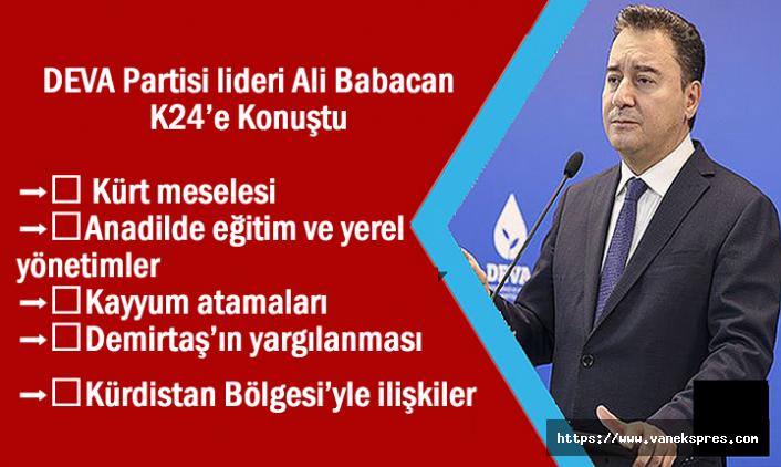 Babacan: Kürt sorunu, devlet ile Kürtler arasında bir meseledir