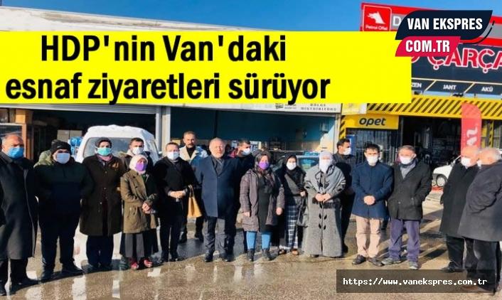HDP Van Milletvekili Temelli, Van esnafını ziyaret etti