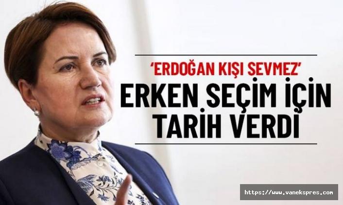İyi Parti Lideri Akşener, 'erken seçim' için tarih verdi