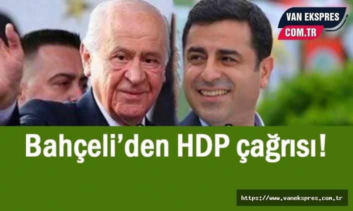 MHP Lideri Bahçeli'den HDP çağrısı!