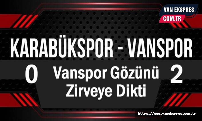 Vanspor FK gözünü zirveye dikti