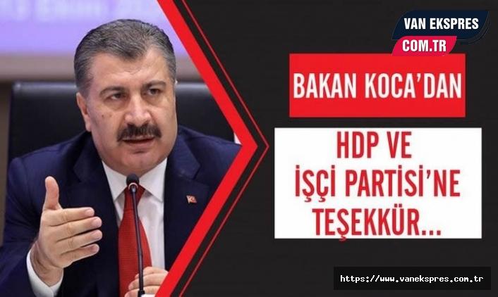 Bakan  Koca'dan HDP'ye 'Sayın'sız teşekkür