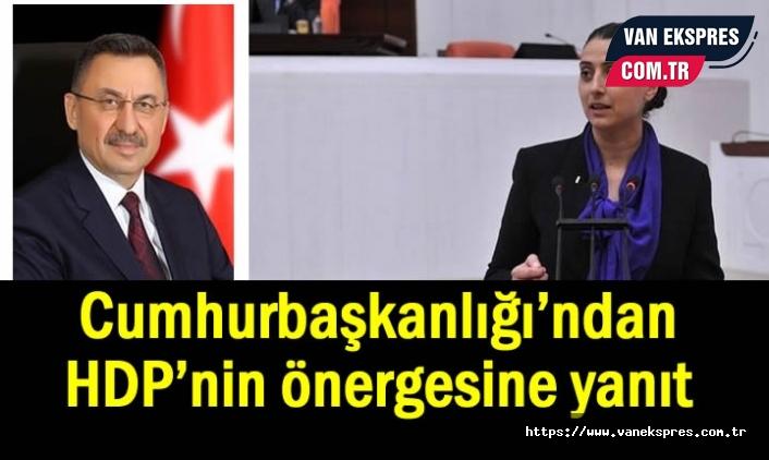 Cumhurbaşkanlığı'ndan HDP'nin 'basın' önergesine yanıt