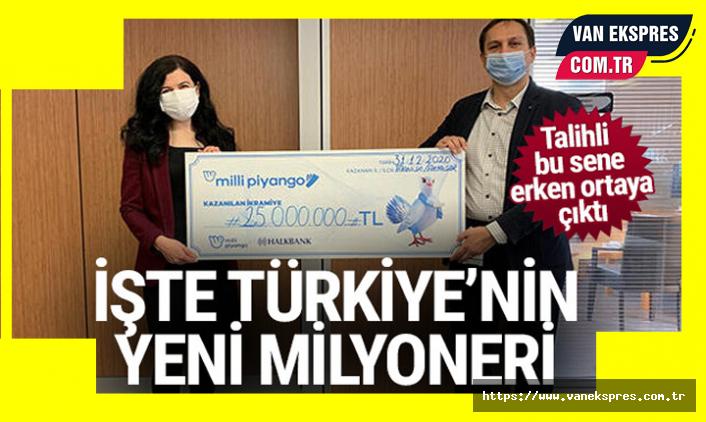 Türkiye'nin Yeni Milyoneri Çekini Aldı