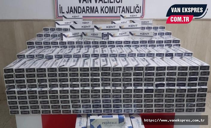 Van'da 8 bin paket kaçak sigara yakalandı: 1 Gözaltı