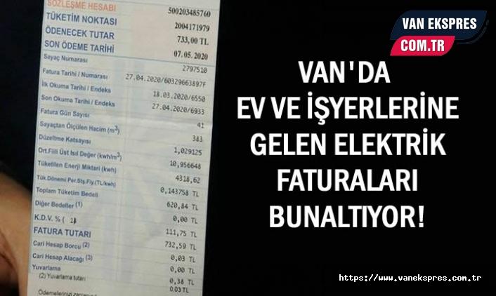 Van'da esnaflar yüksek elektrik faturalarına tepkili