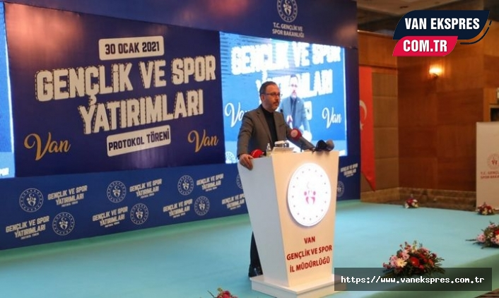 Van'da  Gençlik ve Spor Yatırımları