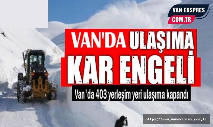Van'da ulaşıma kar engeli