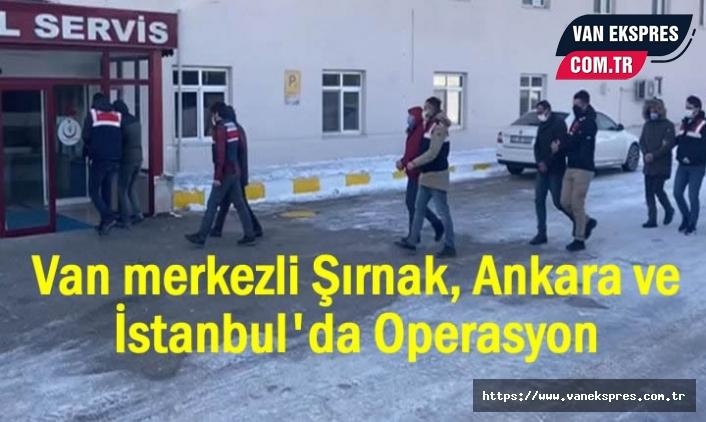 Van Merkezli Operasyon: 15 Gözaltı