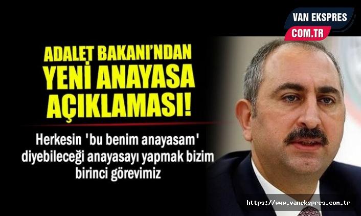Bakan Gül'den Flaş Yeni Anayasa Çıkışı