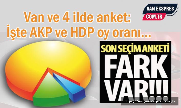 Van ve 4 ilde seçim anketi: İşte AKP ve HDP oy oranı...