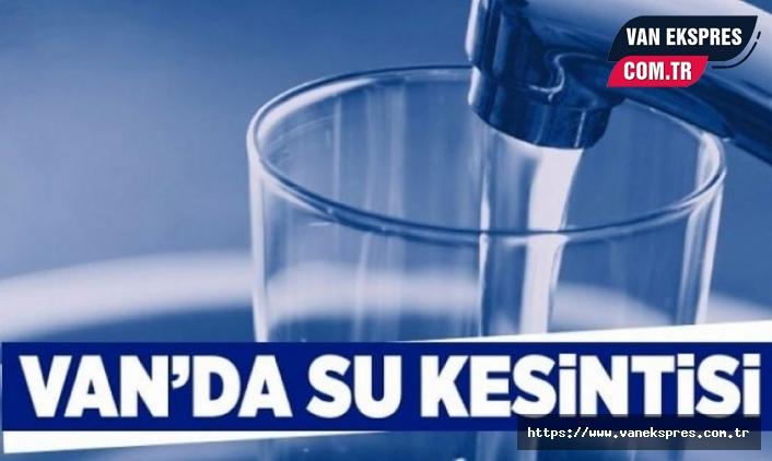 VASKİ'den su kesintisi uyarısı!
