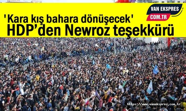 HDP'den Newroz teşekkürü