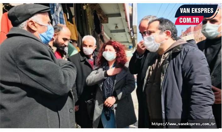HDP'li Temel esnafın sorunlarını dinledi