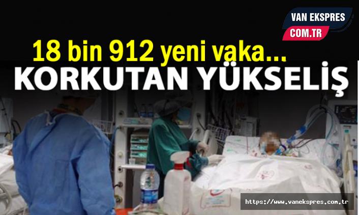 Koronada Son Durum: 18 bin 912 yeni vaka