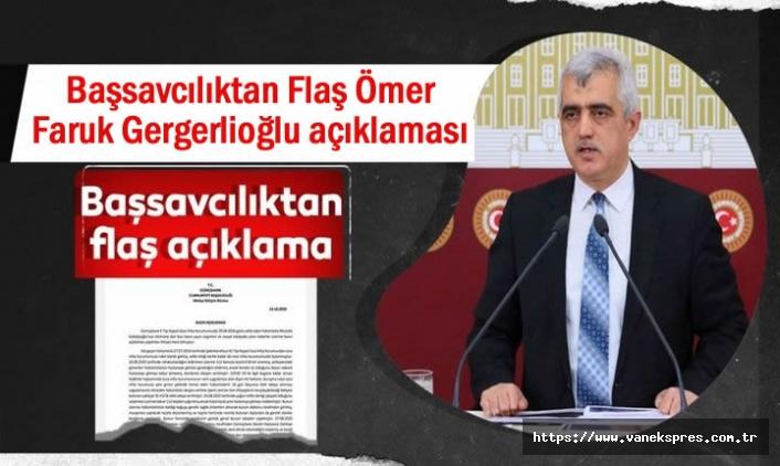 Başsavcılıktan Son Dakika Gergerlioğlu açıklaması