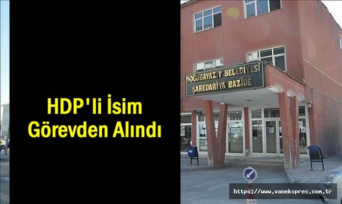 HDP'li isim Görevden uzaklaştırıldı