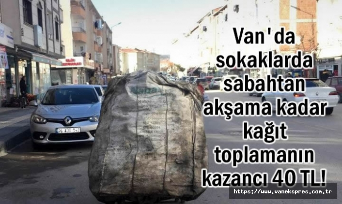 Van'da sokaklarda kağıt toplayarak geçimini sağlıyor