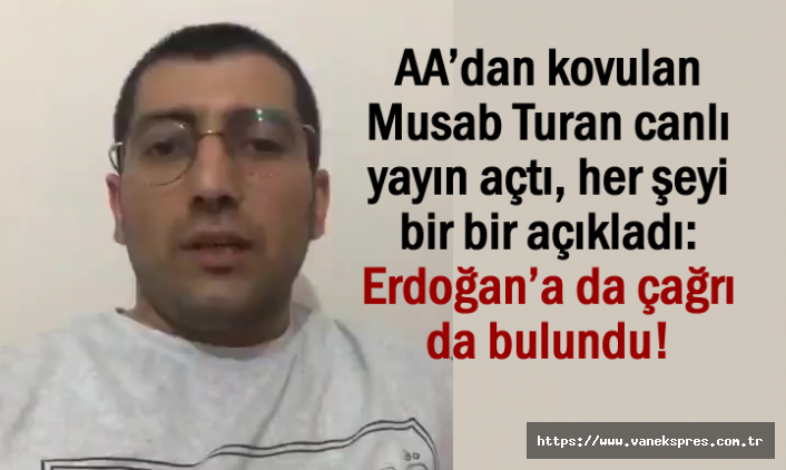 AA'dan kovulan Musab Turan'dan Zehir Zemberek Sözler