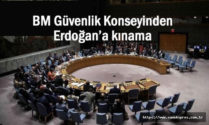 BM Güvenlik Konseyinden Erdoğan'a kınama