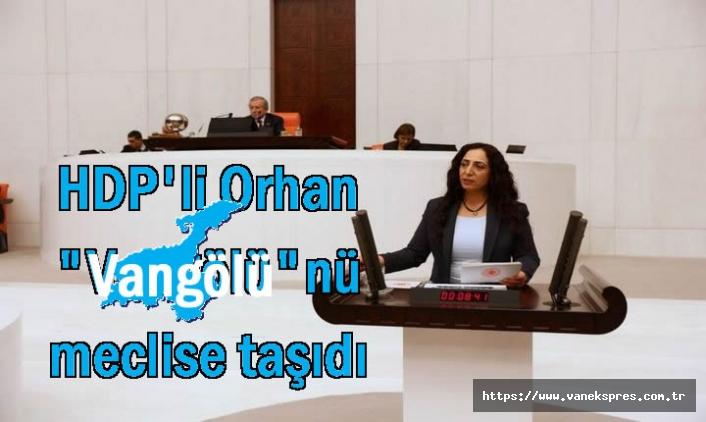 """HDP'li Orhan """"Vangölü""""nü meclise taşıdı"""