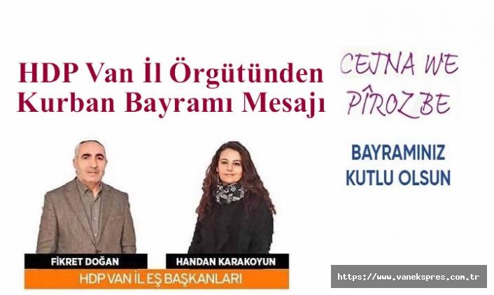 HDP Van İl Örgütünden Kurban Bayramı Mesajı