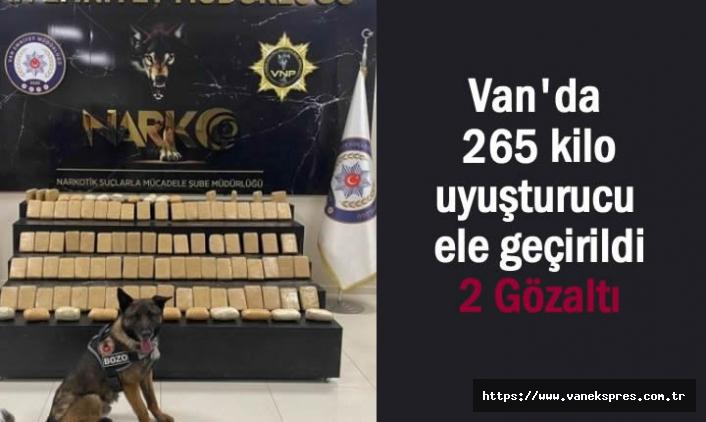 Van'da 265 kilo uyuşturucu ele geçirildi
