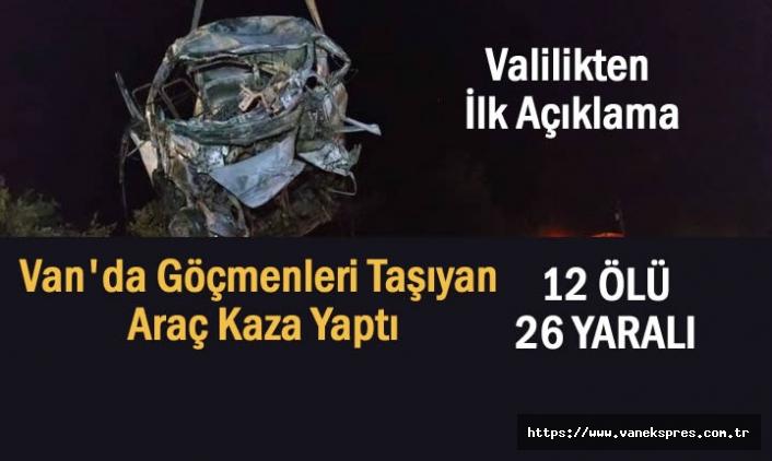 Van'da Göçmen Kazası: 12 Ölü