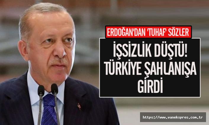"""Erdoğan'dan açıklama: """"İşsizlik düştü, Türkiye şahlanıyor"""""""