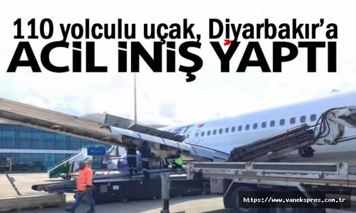 Uçak Diyarbakır'a acil iniş yaptı