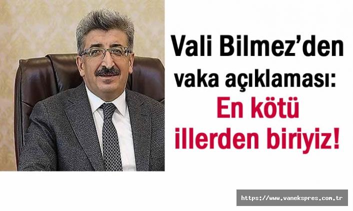 Vali Bilmez: Türkiye'de En kötü illerden biriyiz!