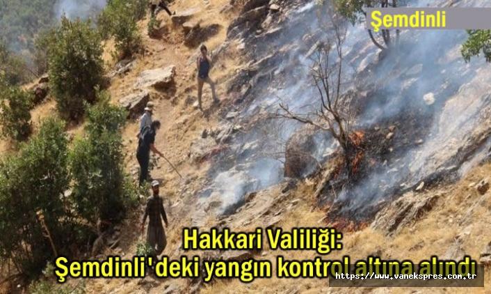Valilik: Şemdinli'deki yangın kontrol altına alındı