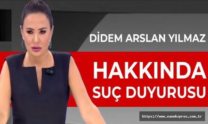 Van Barosu, Didem Arslan Yılmaz'a suç duyurusunda bulundu