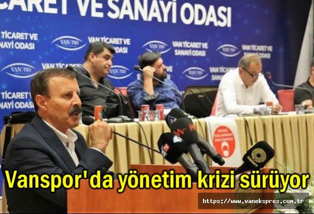 Vanspor'da yönetim krizi sürüyor....