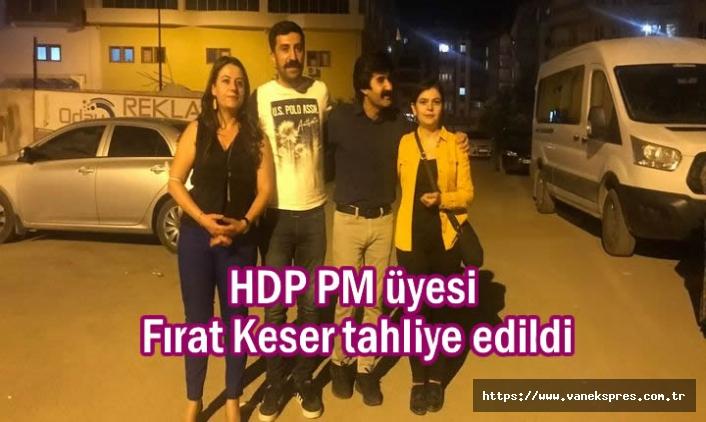 HDP'li PM üyesi Keser tahliye edildi