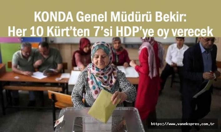 KONDA Müdürü Ağırdır: Her 10 Kürt'ten 7'si HDP'ye oy verecek