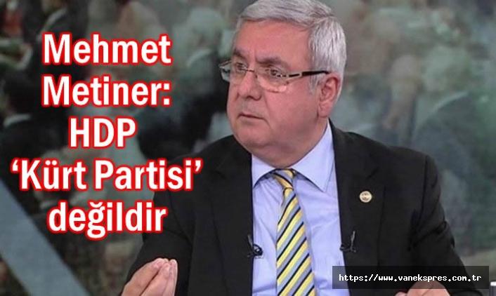 Mehmet Metiner: HDP 'Kürt Partisi' değildir