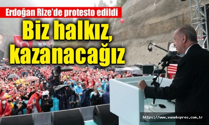 Rize'de Erdoğan'a soğuk duş!