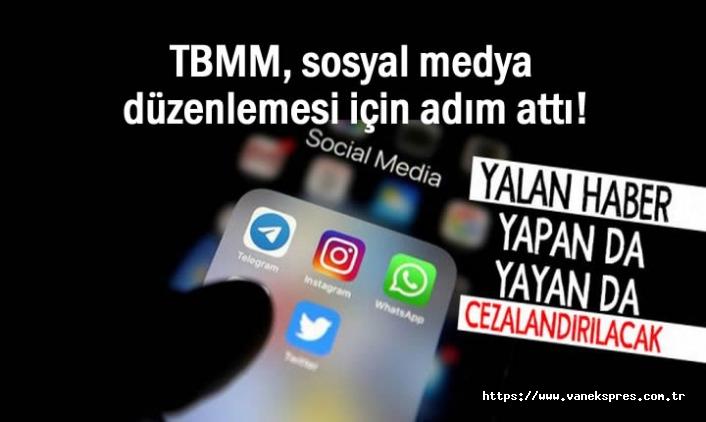 TBMM, sosyal medya düzenlemesi için adım attı!